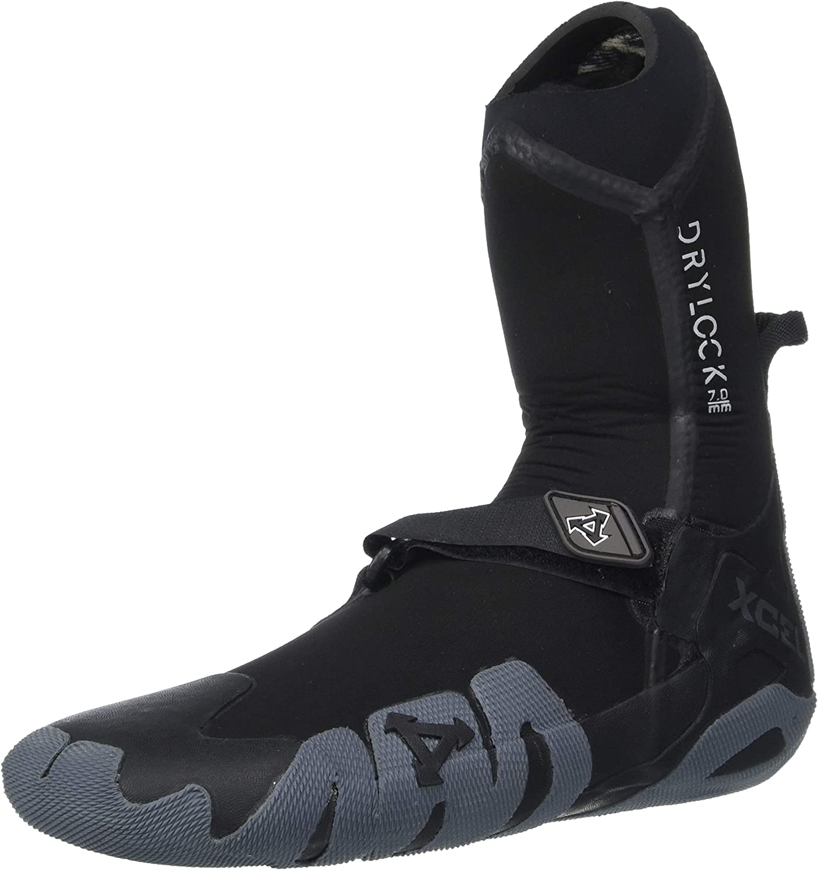 XCEL Fall 2017 Drylock Round Toe Boots, Black/Grey, Size 7/7mm
