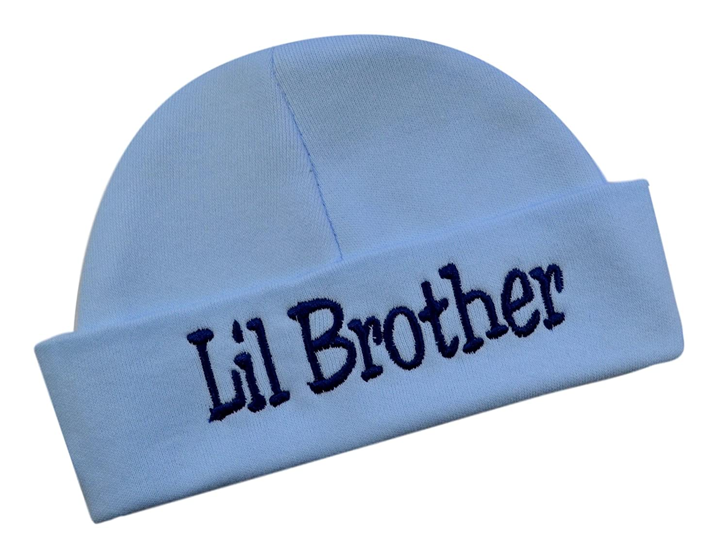 Little Brother Hat Keepsake Embroidered Lil Brother Infant Hat for Baby Boys