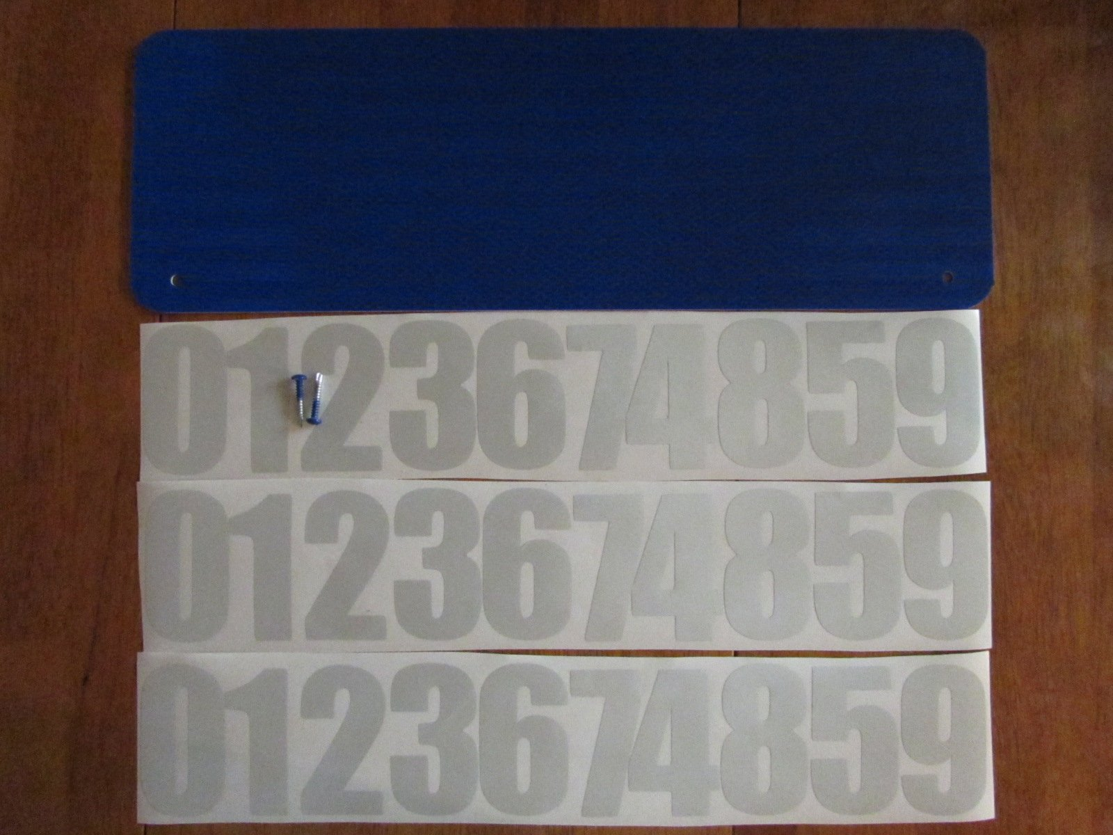 DIY Premium 911 Blue 3M Prismatic Reflective Address Sign Kit. W/ 3 Inch Numbers and Reflective Plate for Home or Business By Mg2 Signs