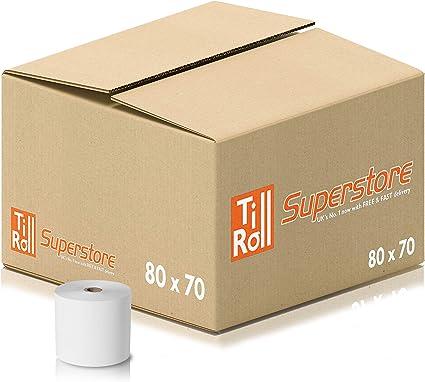 Rollos térmicos de 80 x 70 mm para tarjetas de crédito PDQ (20 ...