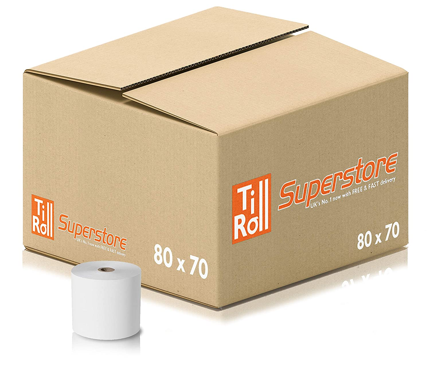 80 x 70mm Thermal Till Rolls For Credit Card PDQ Machines (20 Rolls) Till Roll Superstore