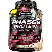 Whey Protein Powder   MuscleTech Phase8 Whey Protein   Sustained-Release 8-Hour Protein Shakes for Men & Women   26g of…