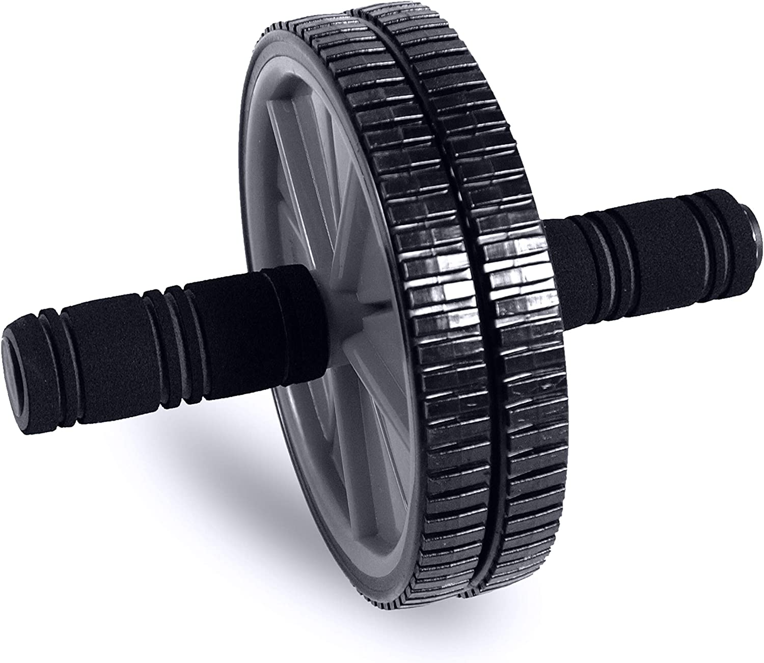 Gray Tone Fitness Ab Roller Toning Wheel for Abs Workout
