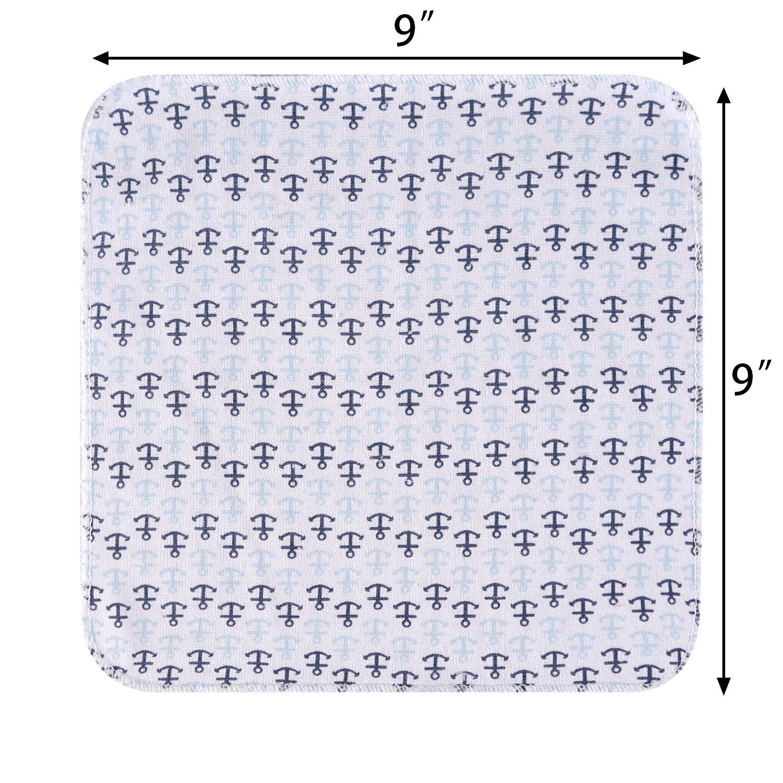 gro/ßes Geschenk f/ür S/äuglinge und Neugeborene Soft Touch und starke Absorption Viviland Baby Hooded Badetuch und Waschlappen 6 Pack