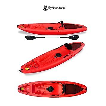 Big Mama - Kayak modelo Gil - Canoa de 266 cm + 1 armario + 1 remo + 1 asiento + 1 rueda posterior (color rojo): Amazon.es: Deportes y aire libre