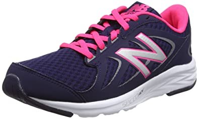 d52453af01e02 New Balance Women's W490V4 Running Shoe, Dark Denim/Alpha Pink/Silver, 5.5