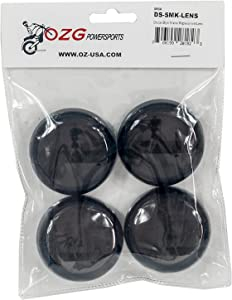 Set (4) OZ-USA Smoke Turn Signal Lens Harley Deuce-Style Snap On Street Glide FLHX Replacement lens for OEM #68973-00
