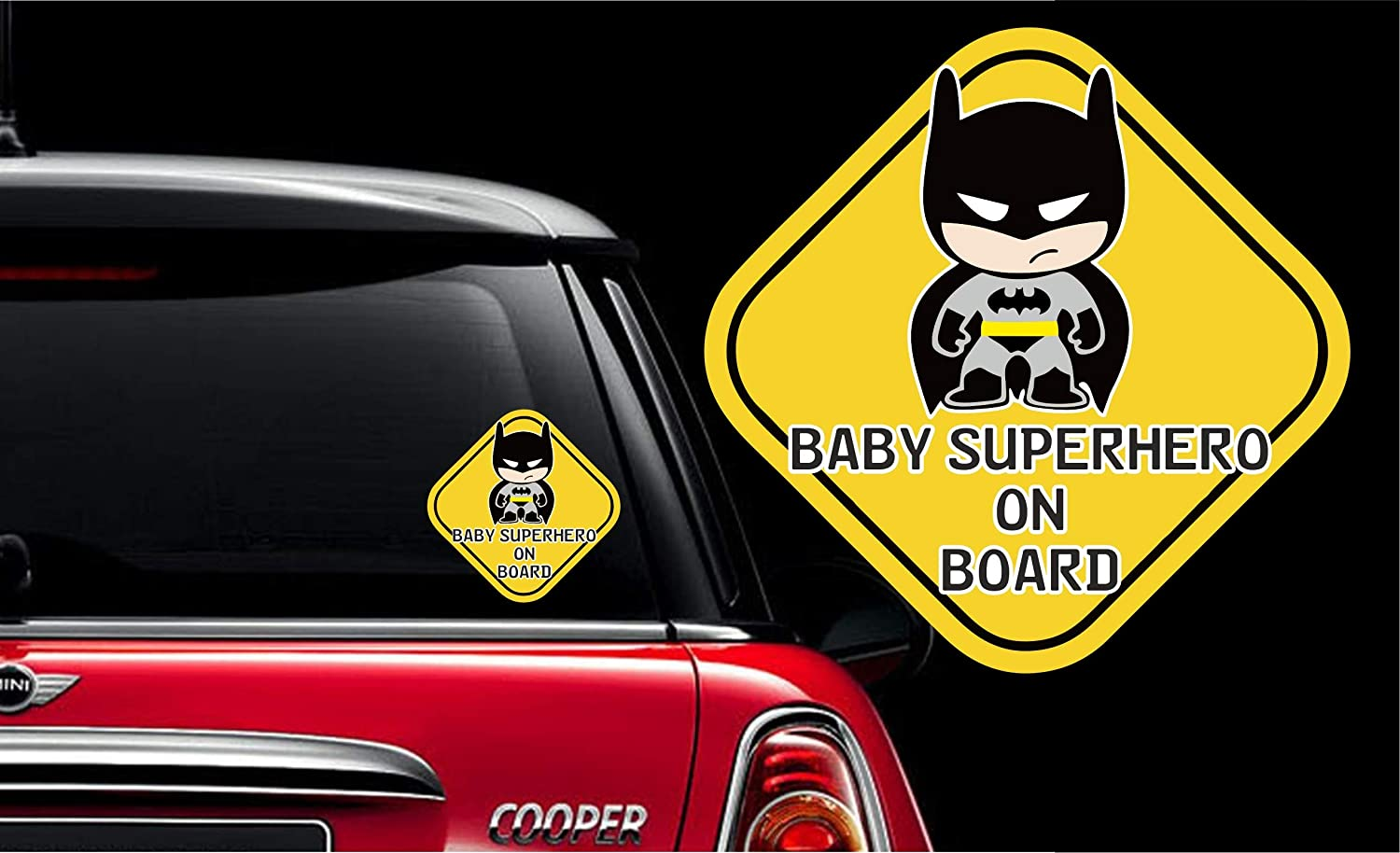 Big flag 3d baby in car styling stickers safety warning car sticker pack of 1 bat baby amazon in car motorbike
