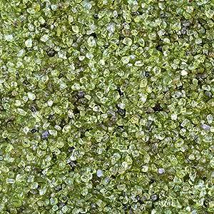 mookaitedecor 450 Gramos Natural Mini Piedras Preciosas Piedras de Carga para Piedras Decorativas, Piedras de Carga Decorativa para jardín decoración, Verde peridoto: Amazon.es: Jardín