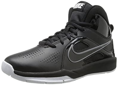 942631a5c937 Nike Kids Team Hustle D 6 (GS) Black Black White Basketball Shoes