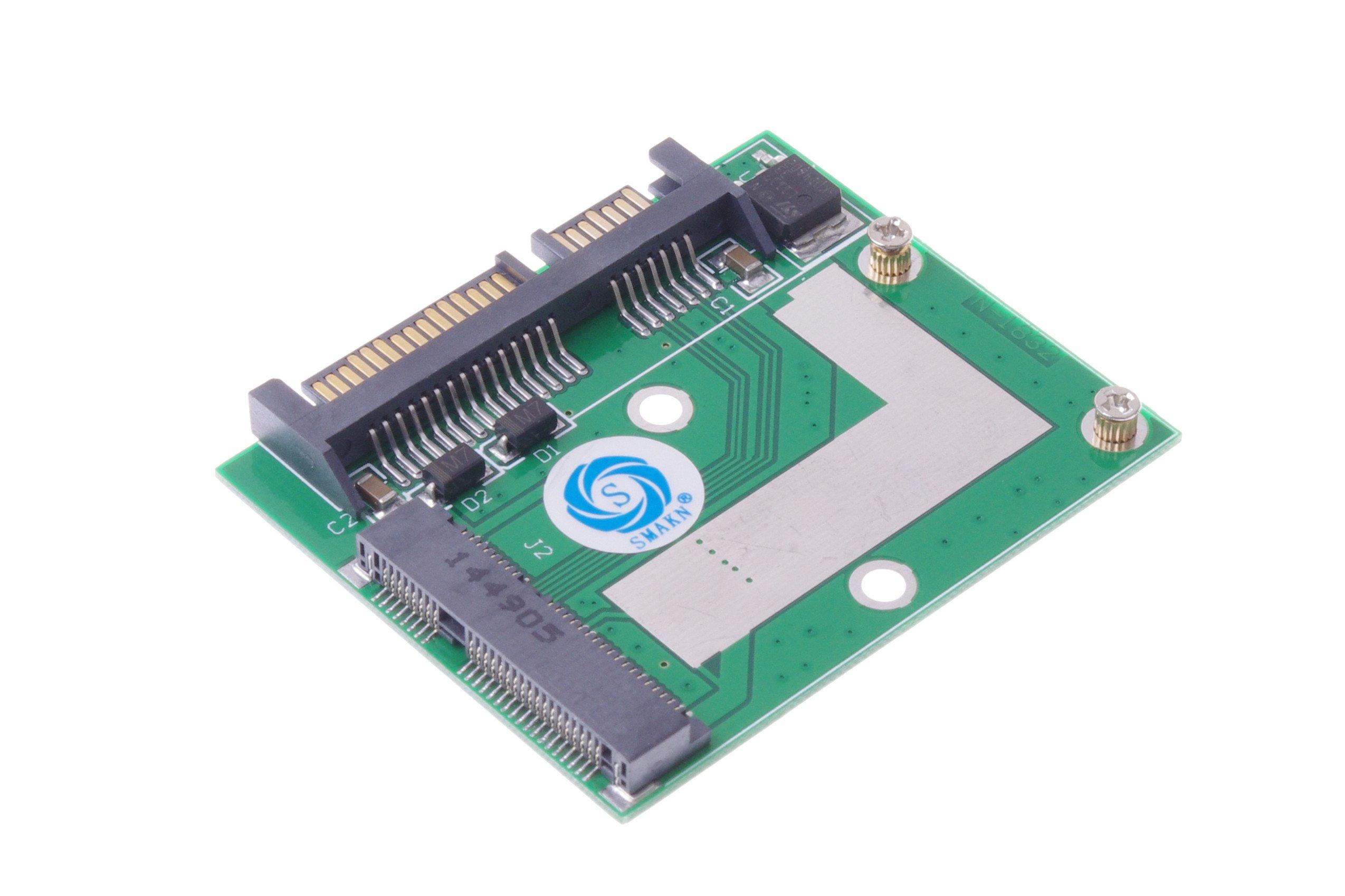 """SMAKN Mini PCIE MSATA SSD 30mm50mm to 2.5"""" SATA 6.0Gps Adapter Card"""