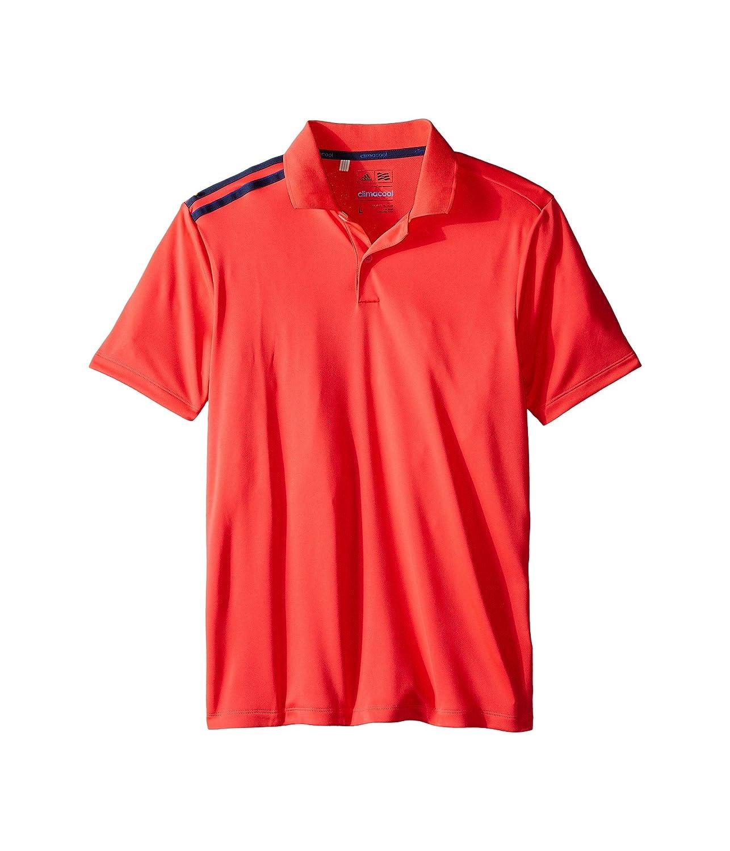 [アディダス] adidas Golf Kids ボーイズ Climacool 3-Stripes Polo (Big Kids) トップス Orange/Shock Red/Miner Blue XL (16 Big Kids) [並行輸入品]   B01DL6ZSOM