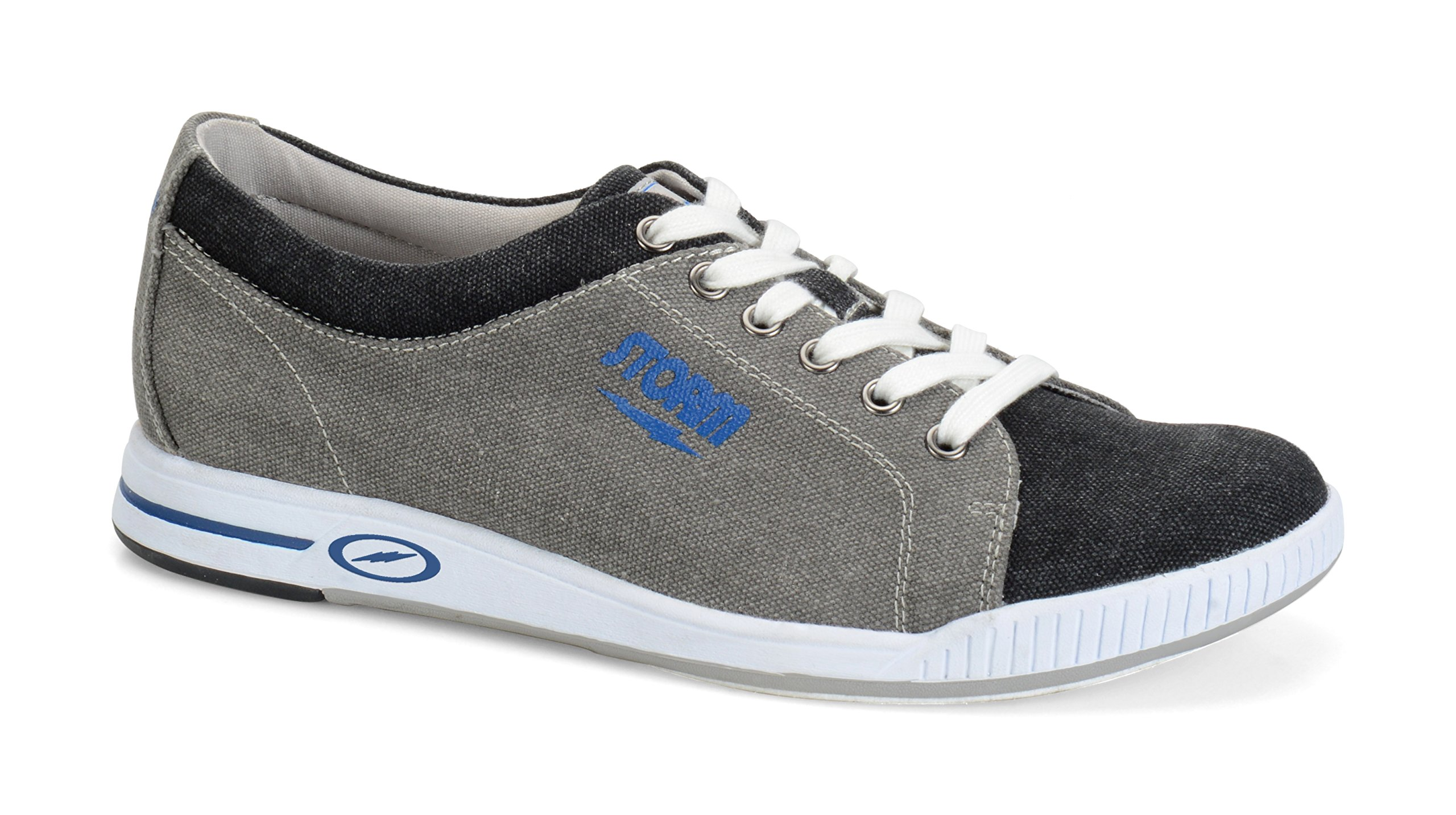 Storm Gust Bowling Shoes, Grey/Black/Blue, 9.5 by Storm