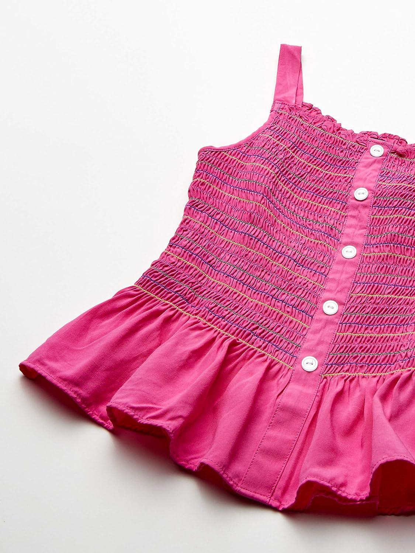 Amy Byer Girls Sleeveless Smocked Peplum Top