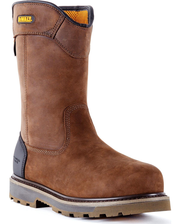 DeWalt Men's tungsten Pull-On Waterproof Work Boot Aluminum Toe Brown 14 EE