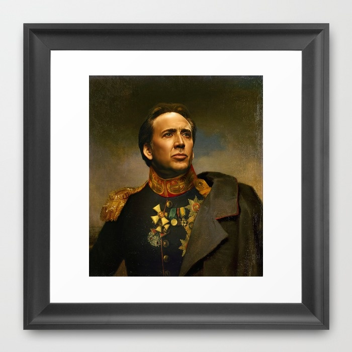 Nicolas Cage - replaceface Framed Art Print by Replaceface | Society6