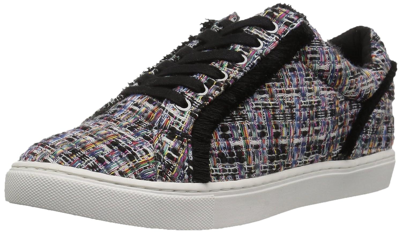 The Fix Womens Tinsley Frayed Silk Lace-up Sneaker B074K4TJNL 7.5 B(M) US|Black Multi Tweed