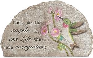 Look for The Angels Green Hummingbird 11 x 7 Resin Decorative Outdoor Garden Stone