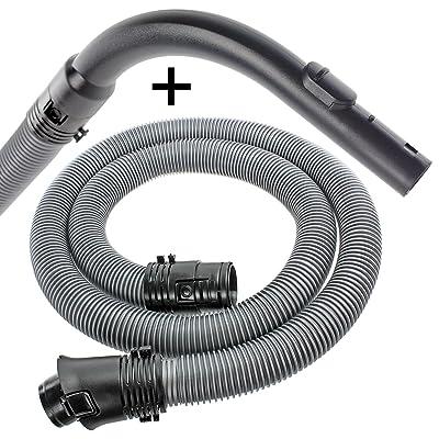 Spares2go 1.8m Tuyau flexible et manche courbé Buse pour Miele S4000(S4) S5000(S5) TT5000aspirateurs de la série