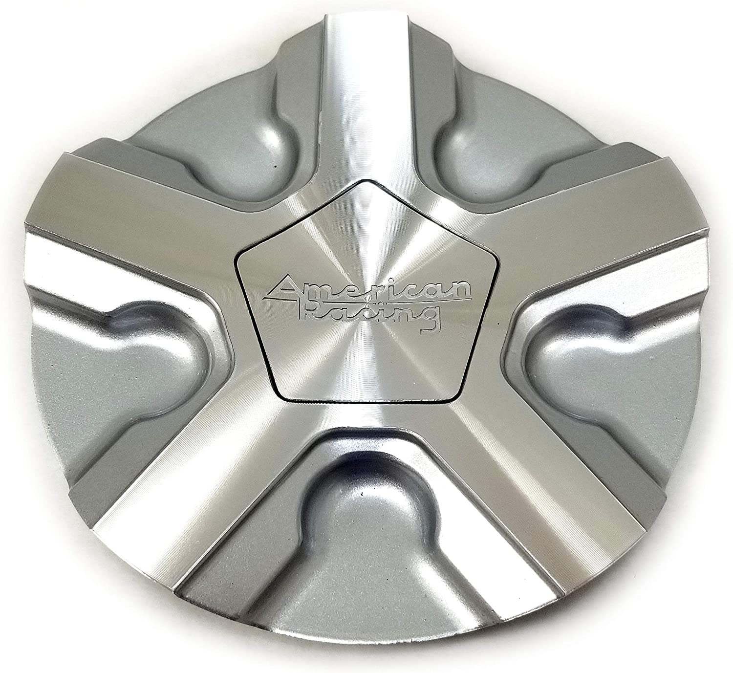 American Racing Machined Silver Wheel Center Hub Cap 6 Od Snap In For 5X4 25 5X108 5X4 5 5X114 3 4X4 5 4X114 3 4X100 5X120 5X110 5X115 5X100 5X105 6X5 6X127 Ar921 Trigger