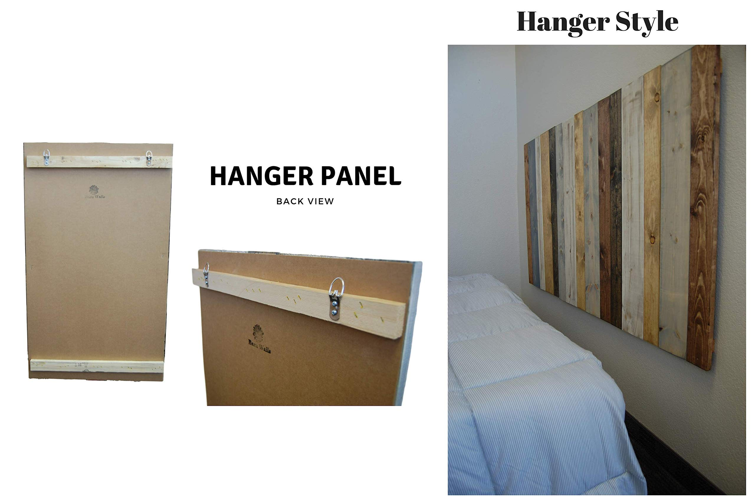Industrial Mix Headboard Queen Size, Hanger Style, Handcrafted. Mounts on Wall. Easy Installation. by Barn Walls