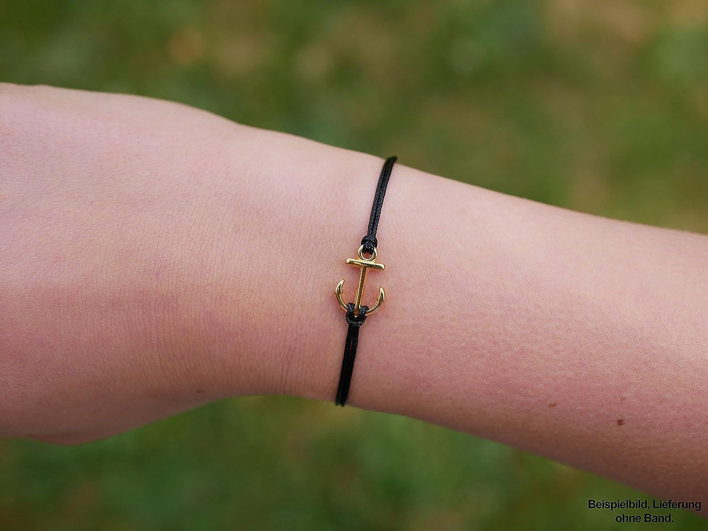 Nuoli Charms Anhänger Anker Gold (2 Stück) Armband Anhänger 15 x 10mm, DQ Metall Charm, Verschiedene Farben wählbar