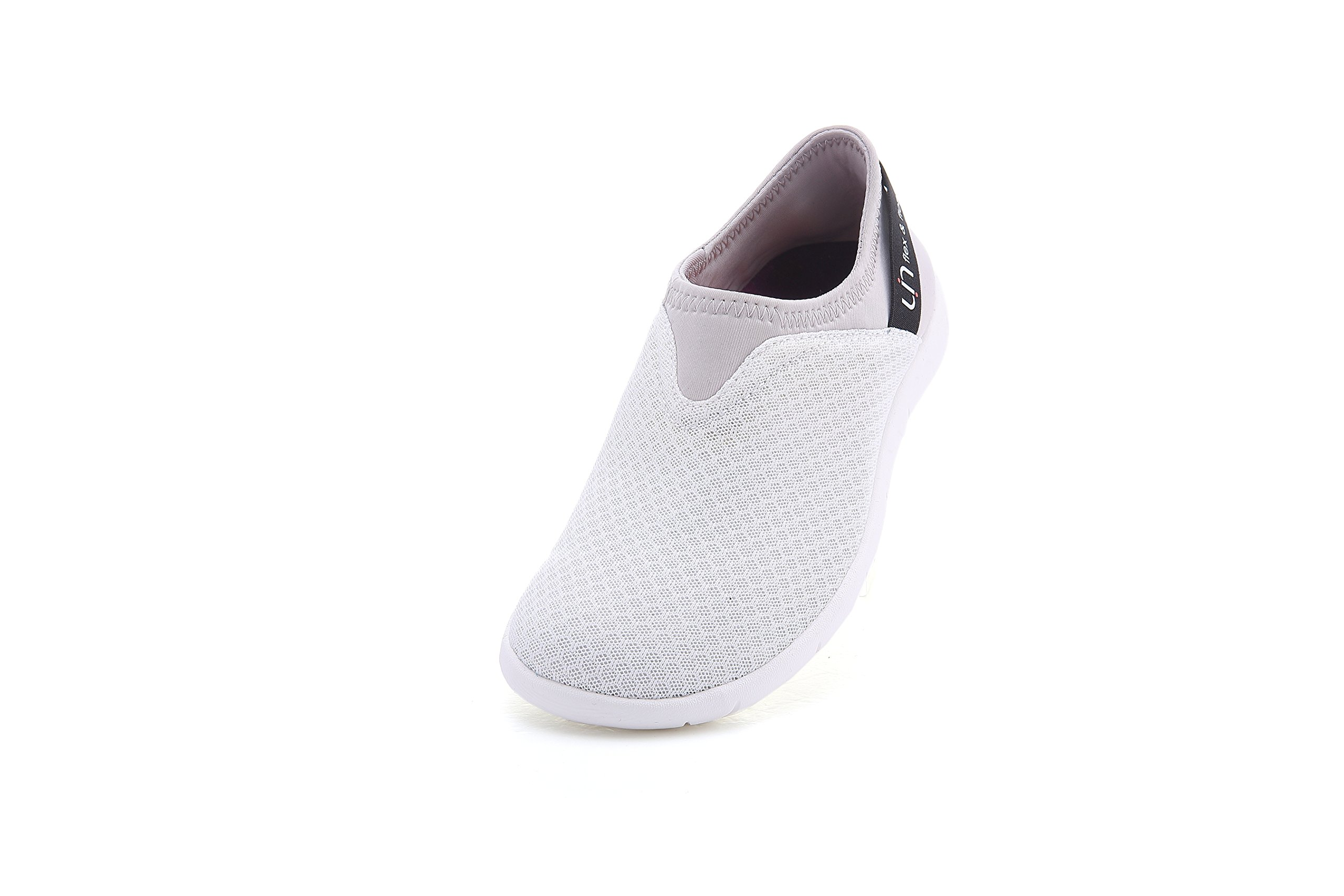 UIN Women's Verona Casual Mesh Cloth Travel Slip-on Shoes White (4.5)