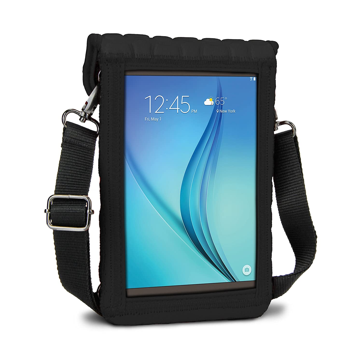 Tab A Tab E Compatible with Samsung Galaxy Tab A2 S Red Tab S2 USA Gear 7 Inch Tablet Case Neoprene Sleeve Cover with Built-in Screen Protector /& Carry Strap Asus ZenPad S