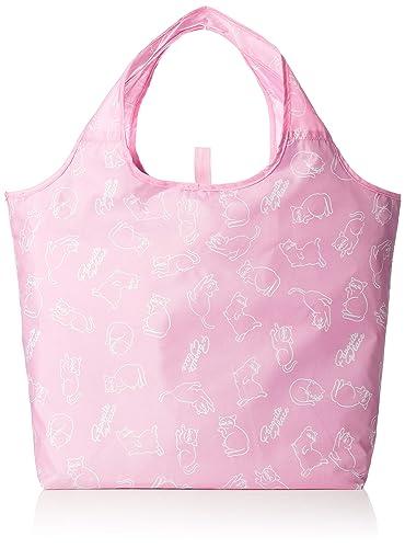 7356386da1c1c7 Amazon | [オーエフエス] ショッピングバッグ ネコ柄 クルクルコンパクト保冷保温バッグ | エコバッグ・買い物バッグ