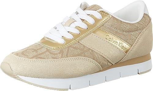 Zapatillas de mujer Calvin Klein Jeans Running plateadas
