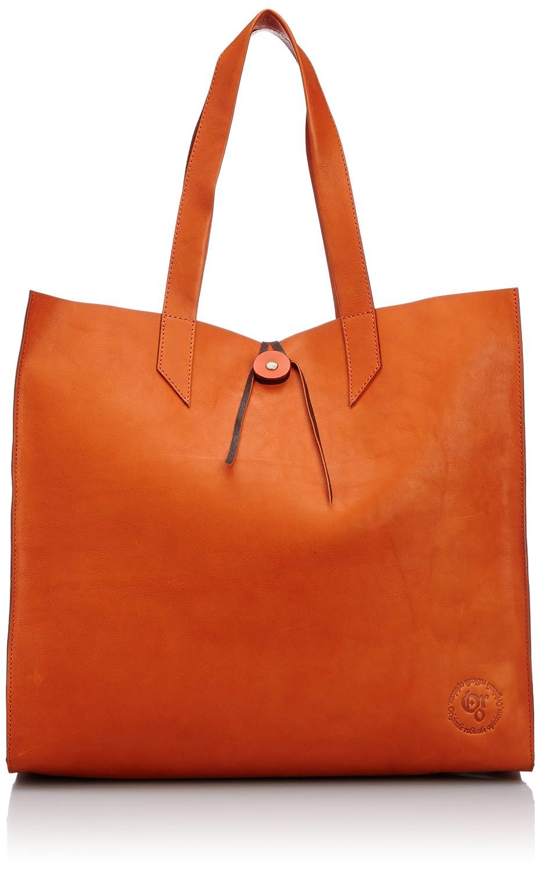 [オロ] ORO TOTE BAG トートバッグ 日本製 B00HRRYI98 オレンジ/ダークブラウン オレンジ/ダークブラウン