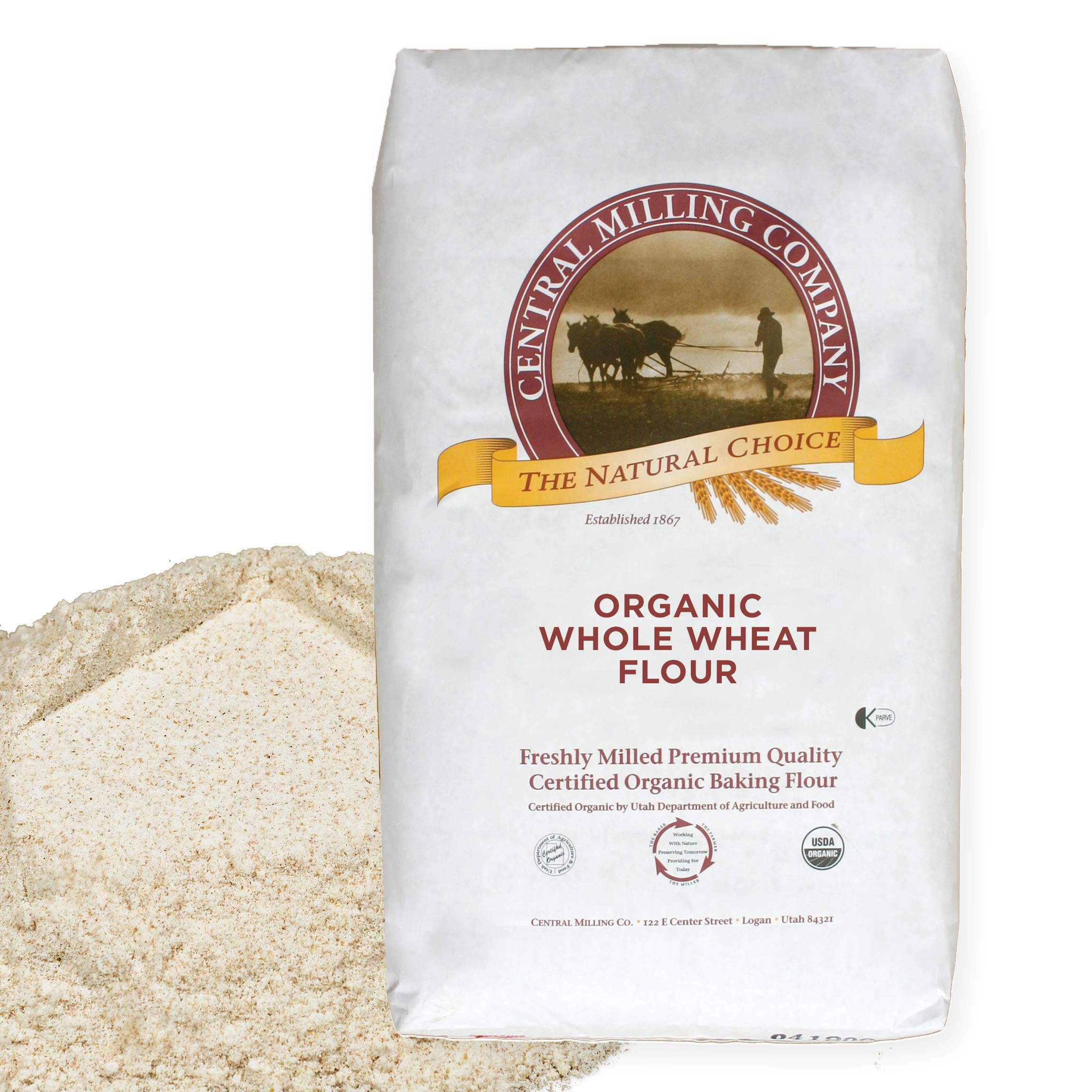 Organic 100% Whole Wheat Flour – 25 lb. bag