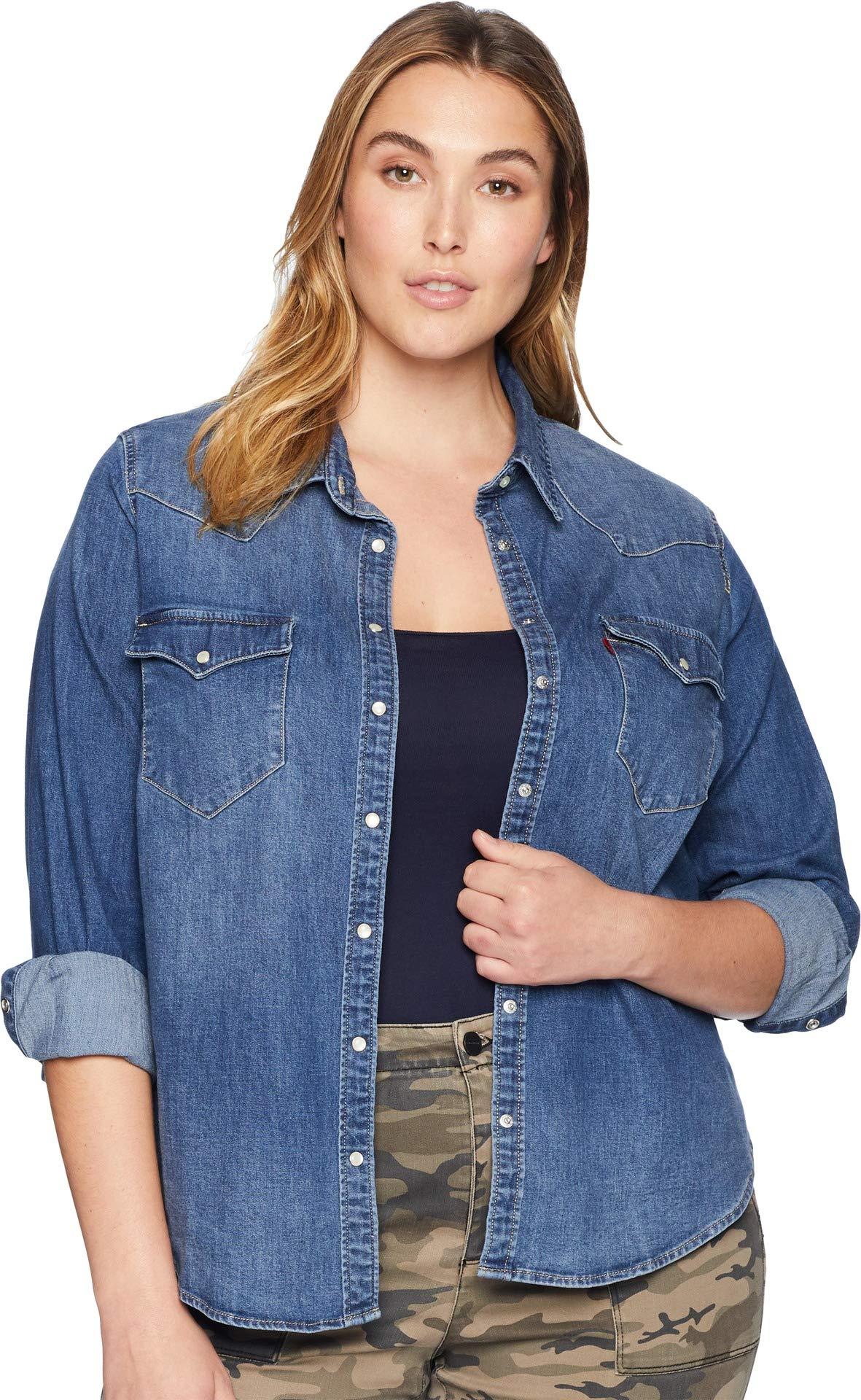 Levi's Women's Plus-Size Western Shirt, Lotta Love, 3 X by Levi's