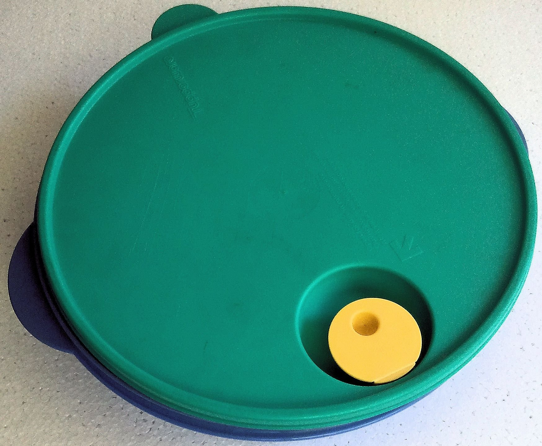 Tupperware CrystalWave Divided 10'' Dish With Lid