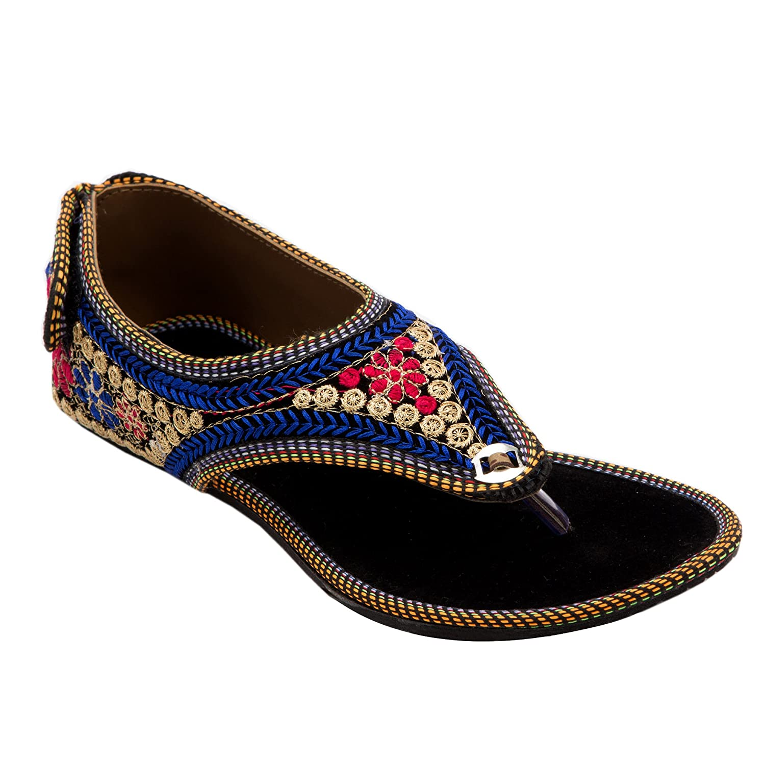 Ridhi Sidhi Women\'s Colorful Embroidered Flats: Buy Online at Low ...
