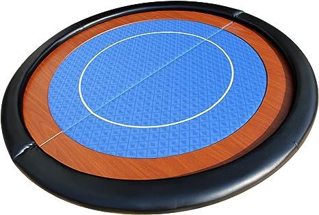 EBS Tablero de Mesa de Poker Redondo Plegable de Tela - Azul ...