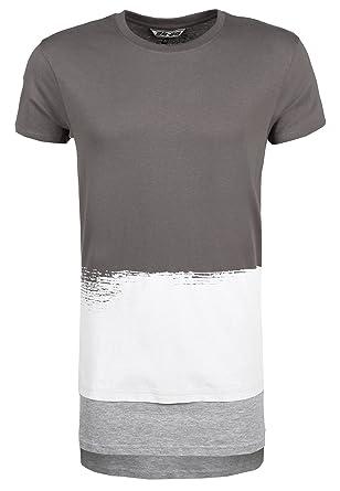 9d01a1419f2c 98-86 Gestreiftes Herren T-Shirt Oversize   Langes Männer Shirt mit Streifen