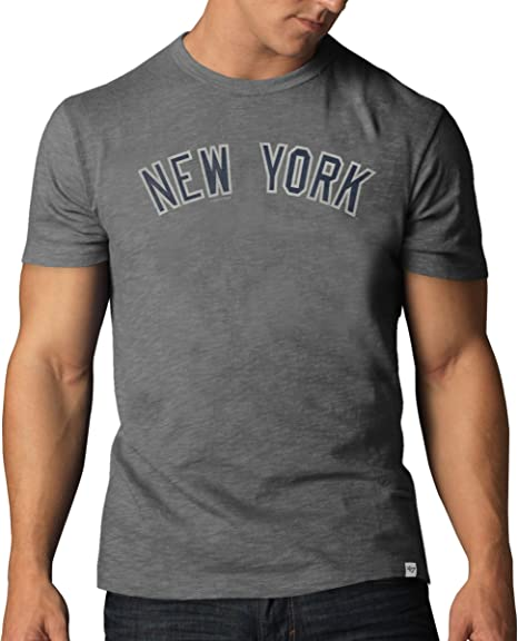 47 MLB New York Yankees - Camiseta básica para Hombre, Hombre, GN-57469-L, Gris, Large: Amazon.es: Deportes y aire libre