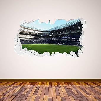 Tottenham Hotspur  Stadium Broken Wall Mural Wall Art Sticker + Spurs Crest Decals (60cm x 30cm)