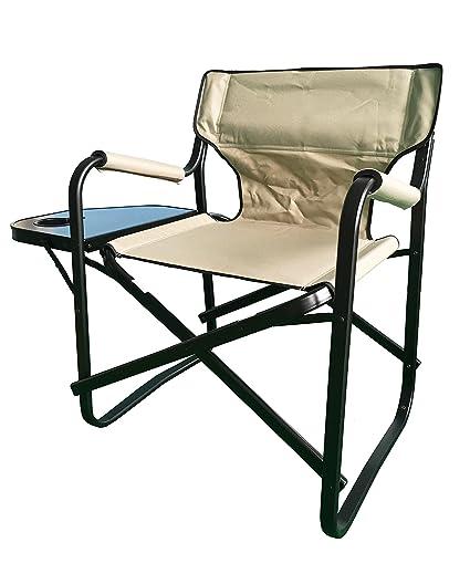 Enjoyable Amazon Com Aluminum Portable Folding Director Chair With Beutiful Home Inspiration Aditmahrainfo