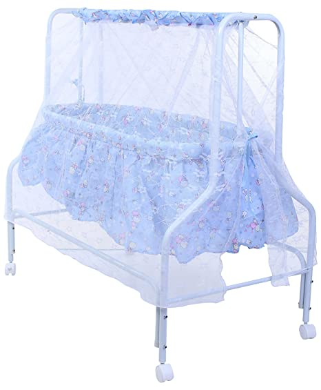 9eb011620 Buy Baby Bucket Baby Cradle With Mosquito Net (Blue) Online at Low Prices  in India - Amazon.in
