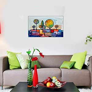Canvas Wall Art, Printed On Canvas With Hidden Wooden Frame, 60X90