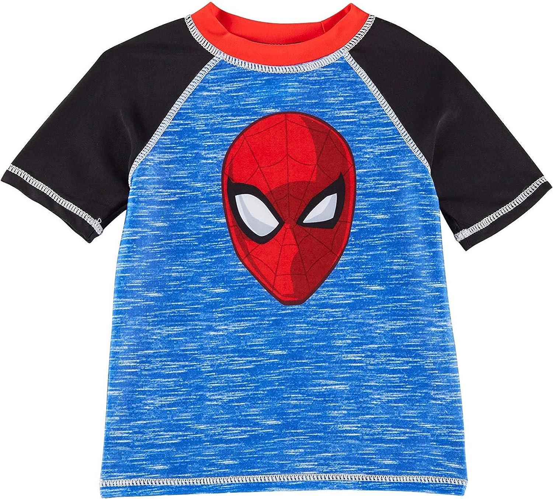 Marvel Spider-Man Rash Guard for Kids Blue