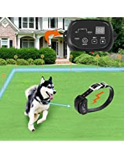 Wire Fence for Dogs Underground Electric Dog Fence with 650 Ft Wire for 1 Dog (in Ground Pet Containment System,IP66 Waterproof and Rechargeable Collar,Shock/Tone Correction)