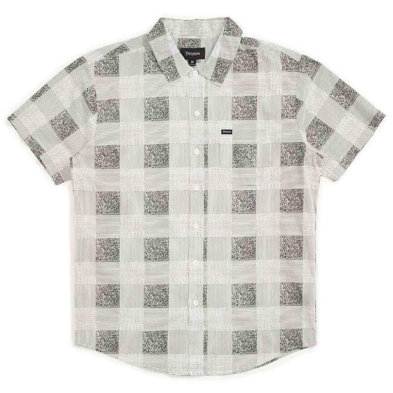 Brixton Mens Charter Standard Fit Short Sleeve Print Woven Shirt