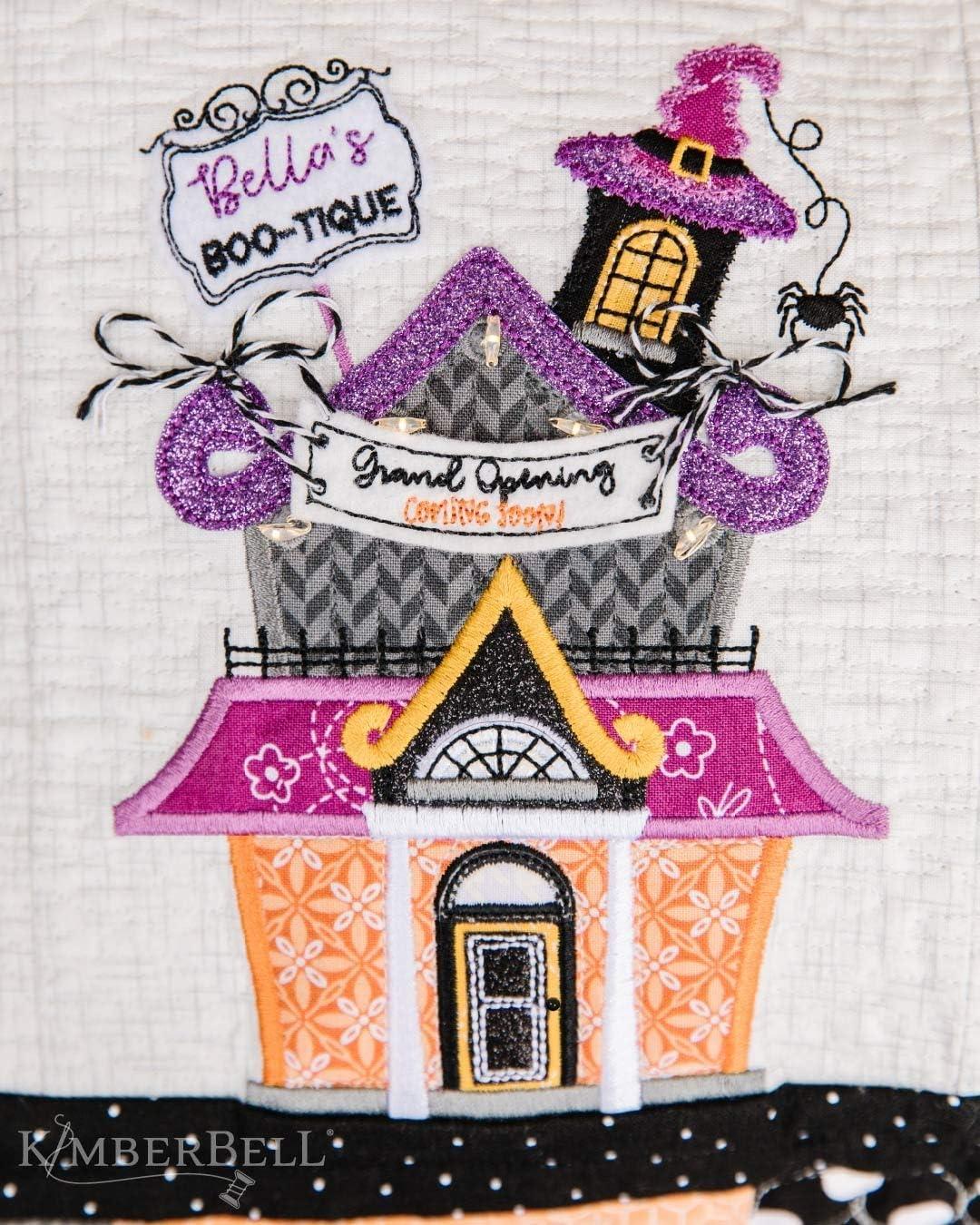 Kimberbell Twilight Boo-Levard Bench Pillow Machine Embroidery CD