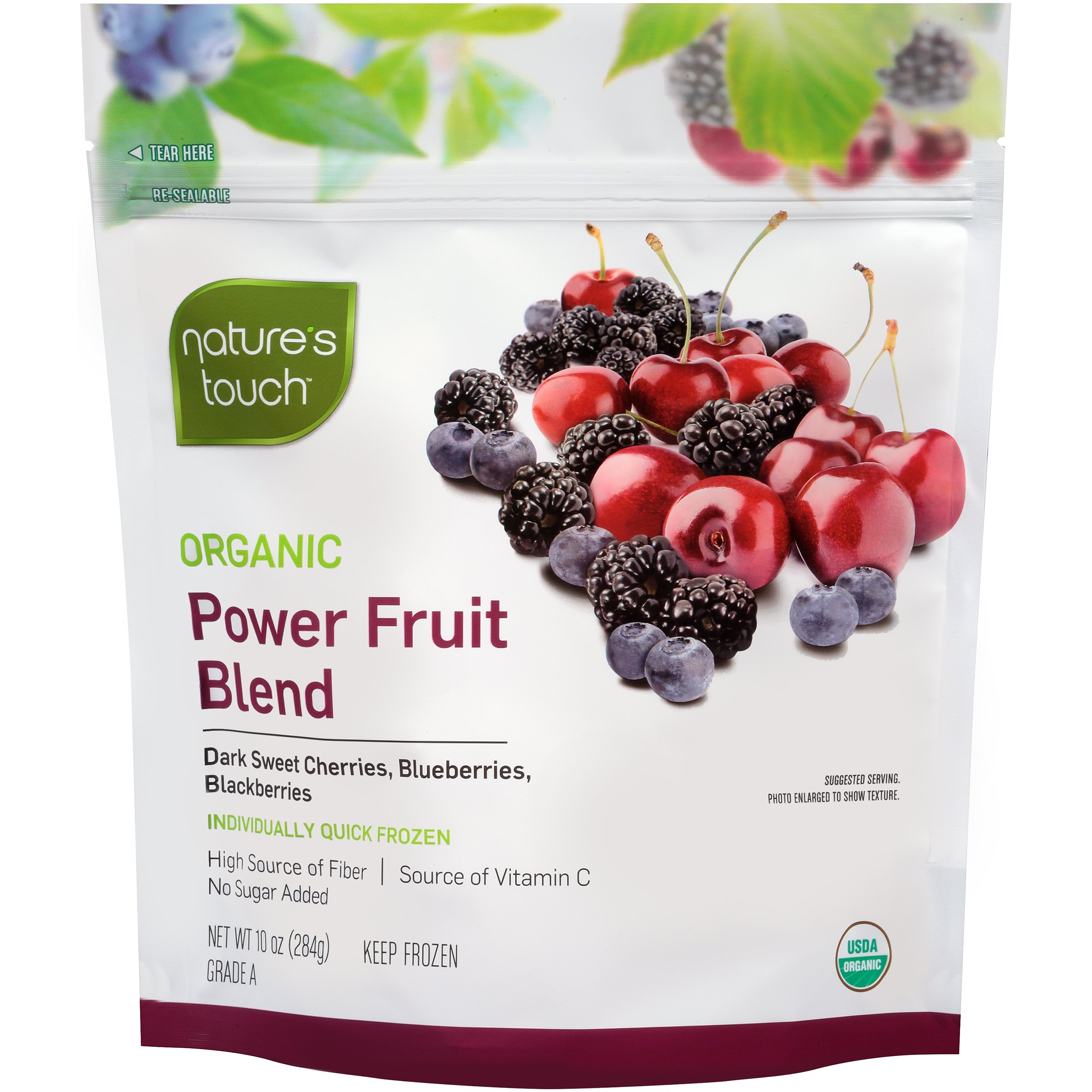 Nature's Touch Organic Fruits, Power Fruit Blend, 10.0 oz. (8 Count)