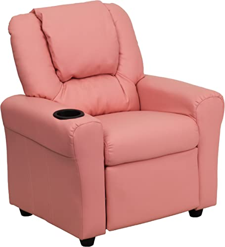 My Friendly Office MFO Contemporary Pink Vinyl Kids Recliner