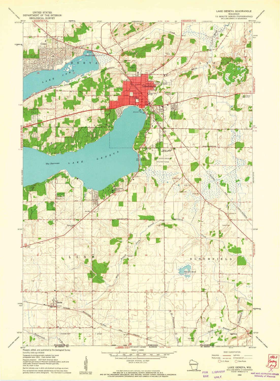 Amazon.com : YellowMaps Lake Geneva WI topo map, 1:24000 Scale, 7.5 ...
