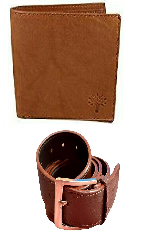 new wood land wallet and belt combo brown pressa wallet